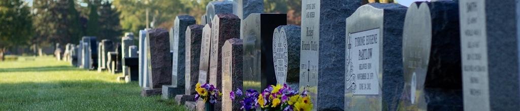 slider headstones on grounds of cemetery