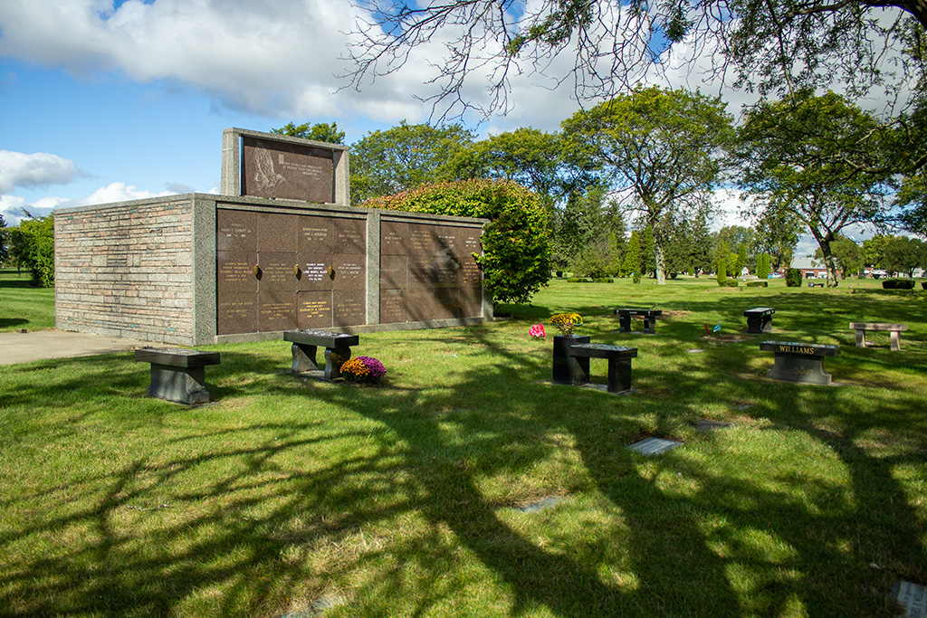 a mausoleum on grounds of East cemetery