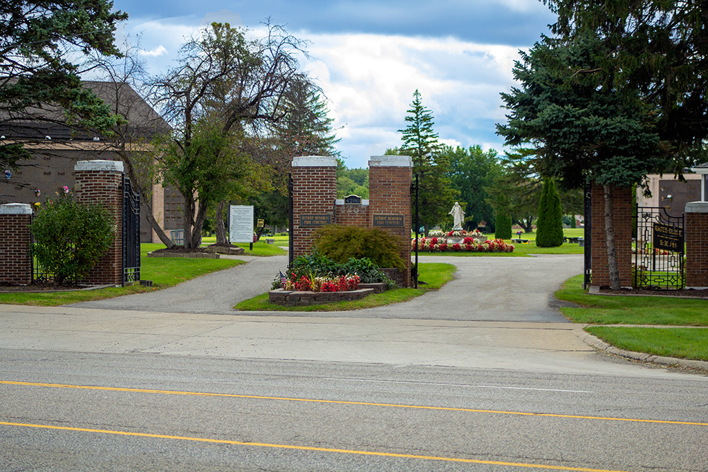 front entrance to East cemetery