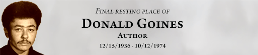 Donald Goines author is buried at Detroit Memorial Park