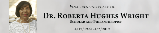Dr Roberta Hughes Wright is buried at Detroit Memorial Park