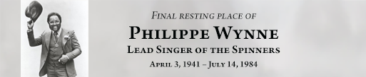 Philippe Wynne is buried at Detroit Memorial Park